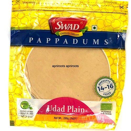SWAD PLAIN UDAD PAPAD 200 GRAM
